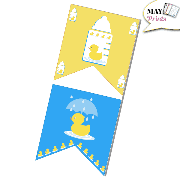 Printable Rubber Ducky Baby Shower Banners