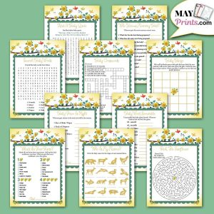 Sunflower Baby Shower Games