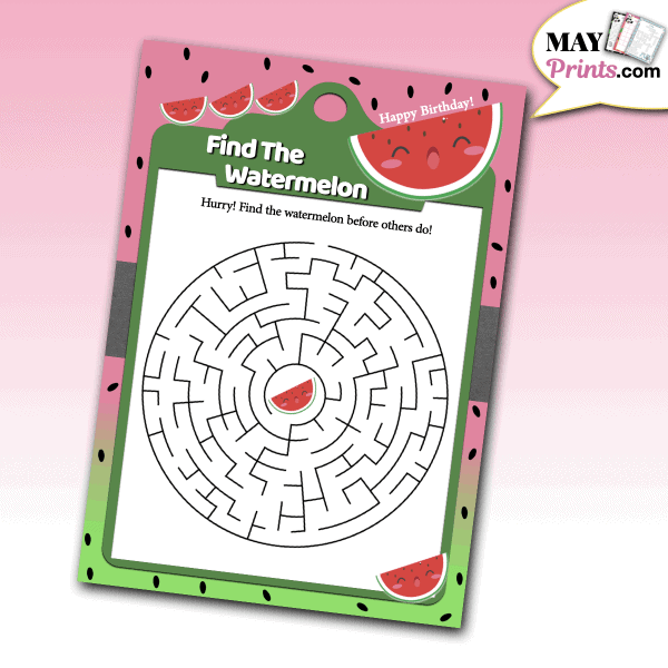 Watermelon Birthday Party Games