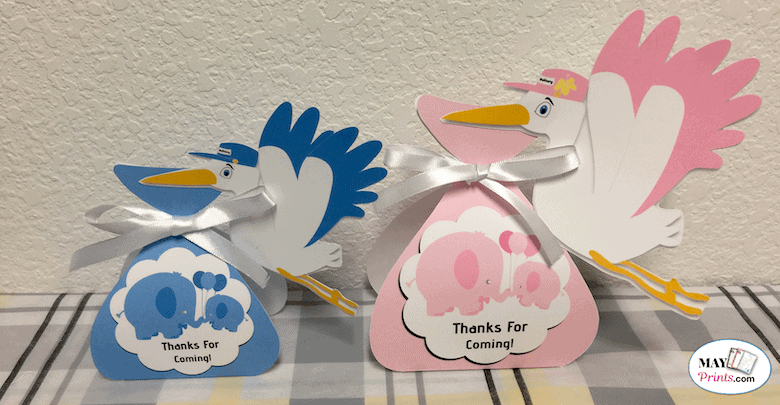 How To Make Stork Baby Shower Party Favors
