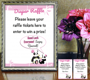 Diaper Raffle Sign and Tickets